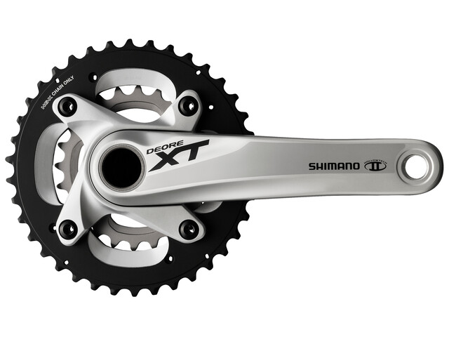 Shimano Deore XT FC-M785 Kurbel 38x24 Zähne silver
